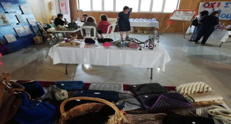 Έργα ραπτικής, πλεξίματος και πυλού από τον Πολιτιστικό Σύλλογο Λαγκάδας «Η Κυδιάντα»