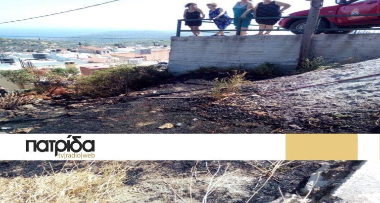 Σβήστηκε η φωτιά σε οικόπεδο στο Θολοποτάμι