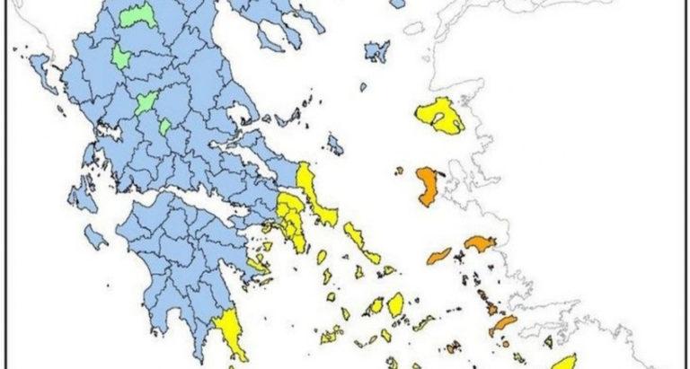 Μεγάλη προσοχή: Πολύ υψηλός κίνδυνος πυρκαγιάς στη Χίο την Τρίτη