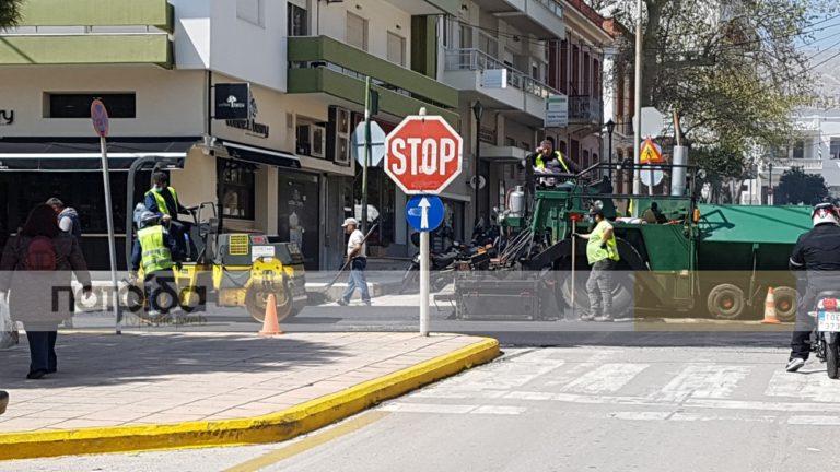 Σε εξέλιξη εργασίες οδοποιίας στο κέντρο της πόλης (Ηχητικό)