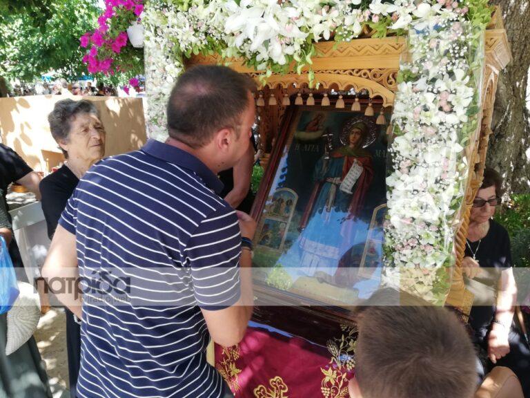 Λιτός αλλά κατανυκτικός εορτασμός της Χιοπολίτιδος Αγίας Μαρκέλλας (pics & vid)